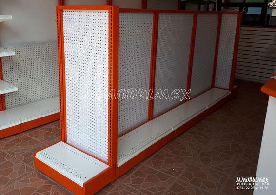 Góndolas metálicas, estantes para tiendas, estantería metálica, muebles metálicos y de madera