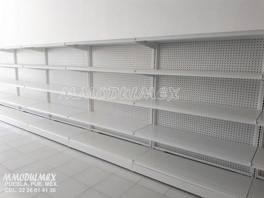 Góndolas metálicas, estantes para tiendas, estantería metálica, muebles para minisuper y supermercados