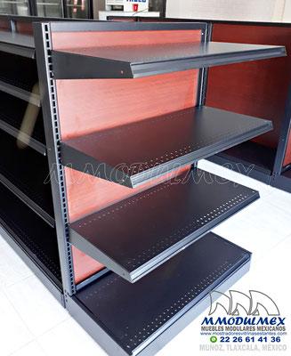 Góndolas metálicas para supermercados y minisuper