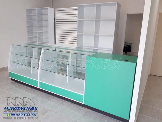vitrinas para farmacia, mostradores para farmacia, muebles para farmacia, aparadores para farmacia