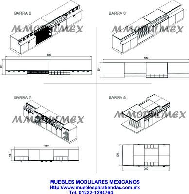 Muebles de Caja mostrador vitrina para tiendas, farmacias, papelerías y negocios, muebles para restaurantes, muebles para comida rápida