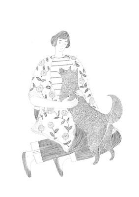 犬と女の人 2017