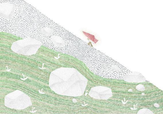 ④ 山を登った / 太陽の靴