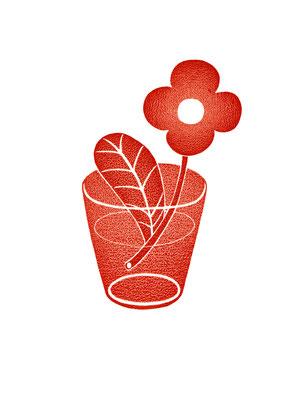 お花がハーイ リトグラフ 2016