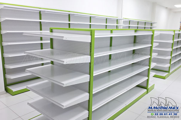 Góndolas metálicas para supermercado, Góndolas metálicas para minisuper