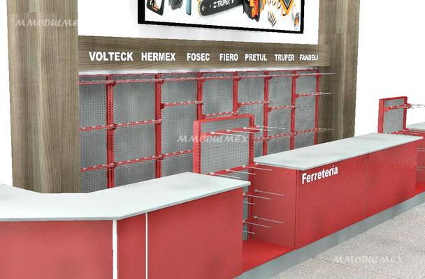 Mueble mostrador metálico