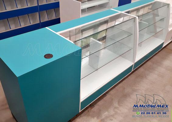 Muebles para farmacia, mostradores para farmacia, vitrinas para farmacia
