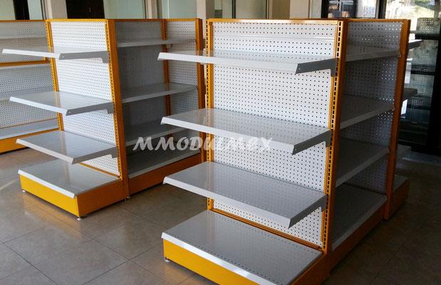 Góndolas metálicas para tiendas de abarrotes