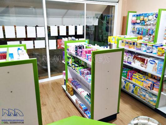 Muebles para farmacia, anaqueles y vitrinas para farmacia, mostradores para farmacia, aparadores para farmacia, estantes para farmacia, cajoneras para farmacia