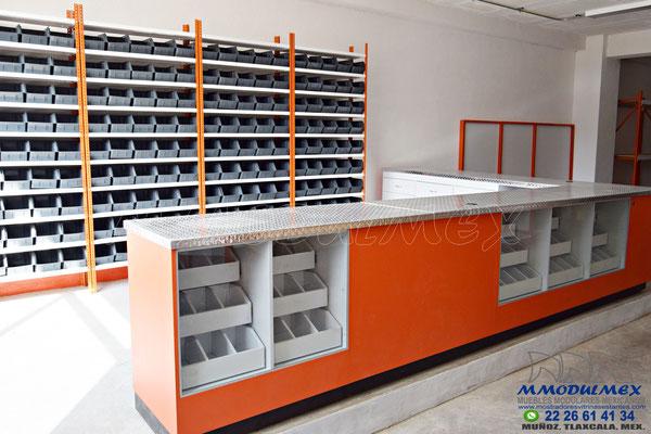 Muebles para tornillos, estantes refaccionarios, muebles para ferreterías