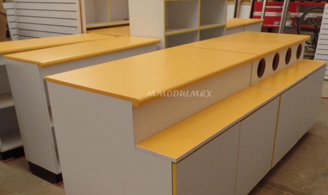 Muebles para comercio, muebles para negocio, muebles para tiendas, muebles de madera, mostradores