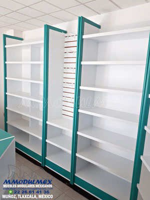 Muebles y vitrinas para farmacias