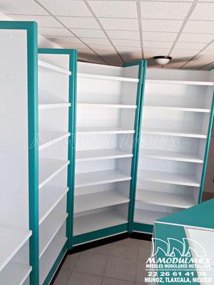 Muebles, mostradores y vitrinas para farmacias