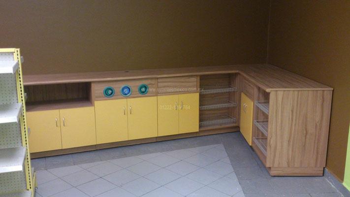muebles para minsuper, muebles para oxxo, muebles para comercio, mostradores para tienda