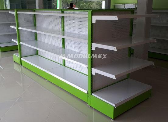 Góndolas metálicas para tiendas, supermercados, minisúper, tiendas tipo Oxxo,