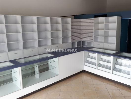 Vitrinas para farmacias y papelerías
