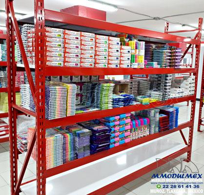 Muebles para papelería, anaqueles para papelería, mostradores para papelería, vitrinas para papelería