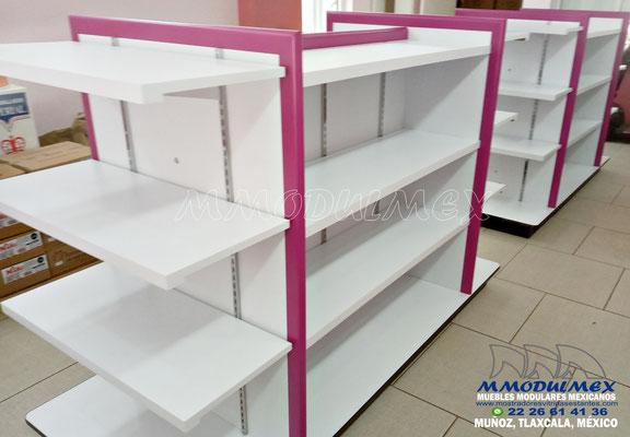 Mostradores, vitrinas, estantes y muebles para papelerías y farmacias