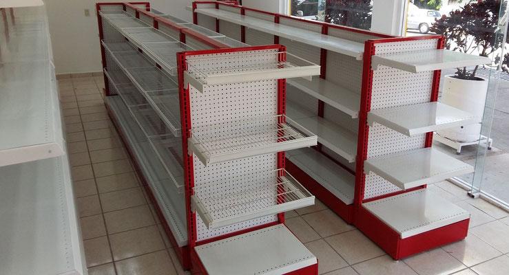 Góndolas metálicas, góndolas para supermercado, góndolas para tiendas, góndolas para negocio, góndolas para abarrotes, góndolas para minisuper