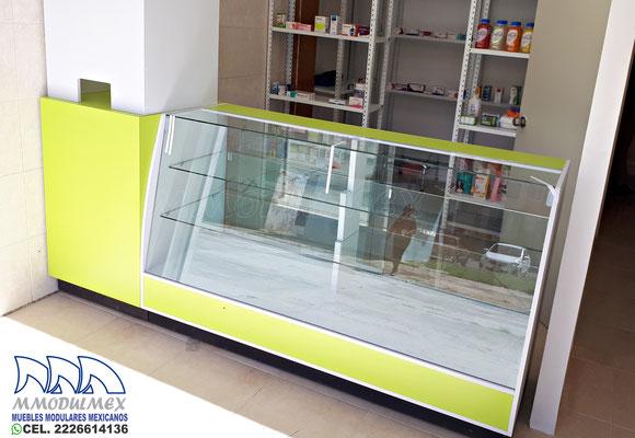 Muebles para farmacia, mostrador para farmacia, vitrinas para farmacia