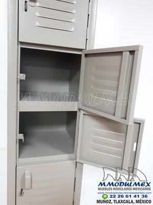 Lockers metálicos de 8 puertas