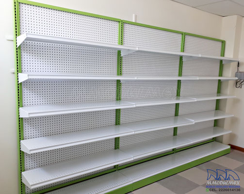 Góndolas metálicas para farmacia, aparadores para farmacia, estantes para farmacia, cajoneras para farmcia