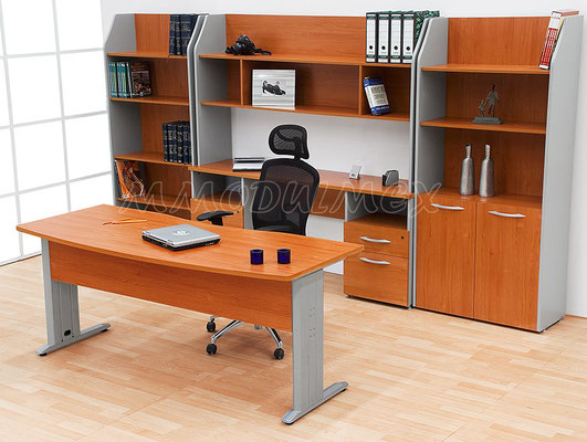 Muebles de oficina de madera, escritorios de oficina, libreros, diseño de oficinas