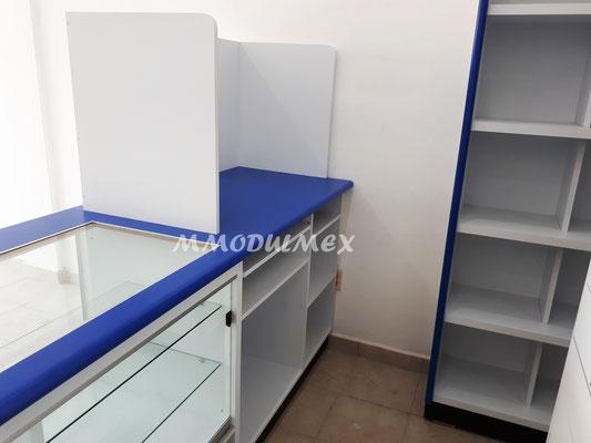 Mueble de caja para farmacia