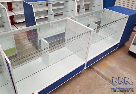 Muebles para farmacia, vitrinas para farmacia, mostradores para farmacia, aparadores para farmacia, cajoneras para farmacia
