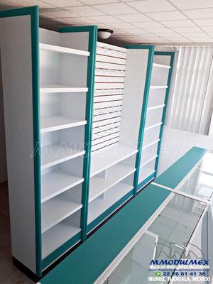 Muebles para farmacia, muebles para papelería, muebles para tiendas