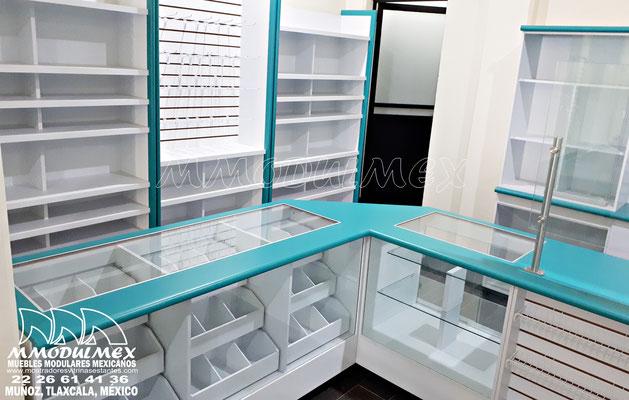 Muebles para papelería, mostradores para papelería, vitrinas para papelería