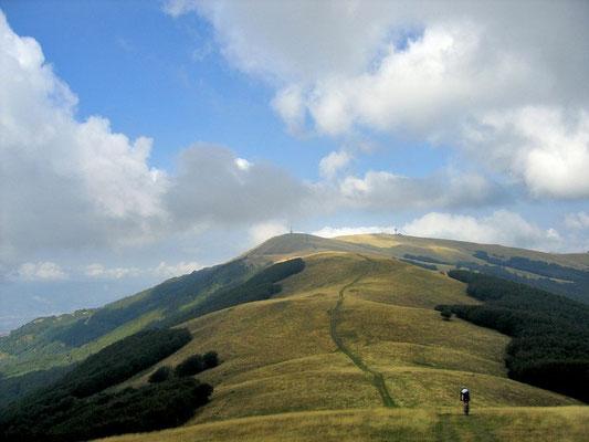 Il sentiero sul crinale del Pratomagno fantastico per trekking e mountain bike