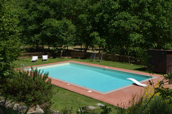 The pool in exclusive to the farm house Casa al Fiume