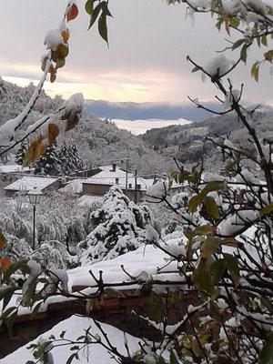 La neve in Pratomagno