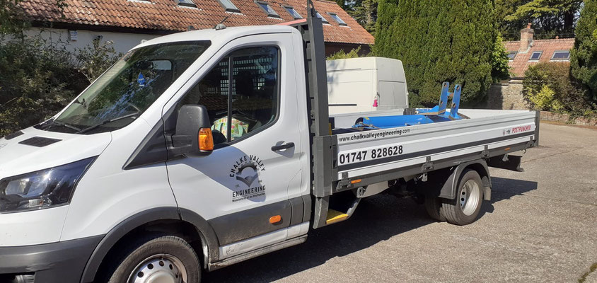 PP2 being deliver to a hire company in Wales
