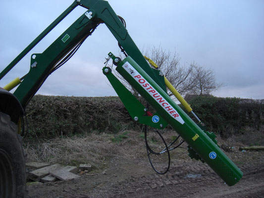 showing the flexibility of use attached to the verge cutter.