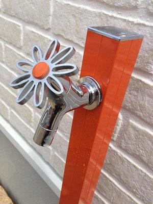 かわいい 蛇口 花ハンドル 庭 ガーデン 立水栓