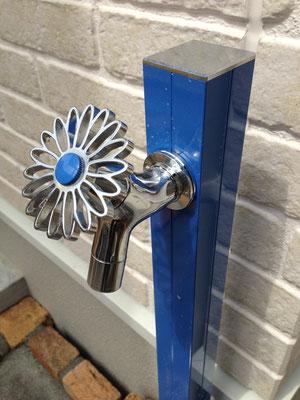 花ハンドル かわいい 立水栓