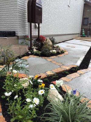 小さなお庭 リフォーム 玄関まわり 廿日市 広島 大竹市