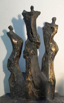 3er Gruppe Bronze 46 x 30 cm