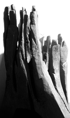 Holz gebrannt 87 x 65 cm
