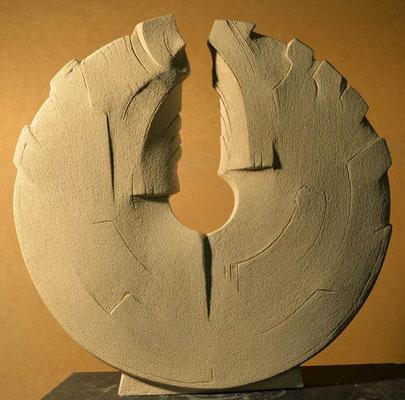 Kreislauf Ton unglasiert 55 x 53 cm