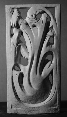 Relief glasiert 40 x 20 cm
