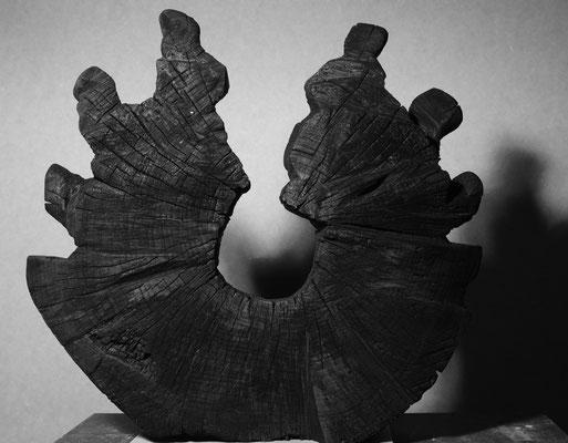 Kreislauf Holz gebrannt 48 x 55 cm