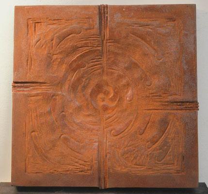 Motiv zur Mitte hin; Eisen-Vollguss 30 x 30 cm