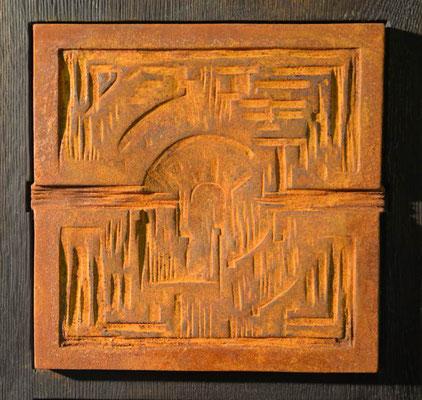 Motiv 2 zu Stele Eisen-Vollguss 28 x 28 cm
