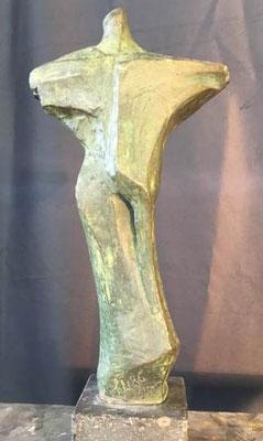 kleine Kreuzform Bronze Arbeitsmodell 25 x 13 cm