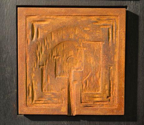 Motiv 1 zu Stele Eisen-Vollguss 28 x 28 cm