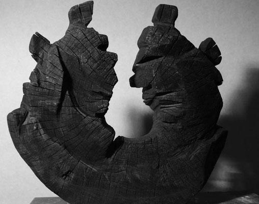 Kreislauf Holz gebrannt 56 x 60 cm