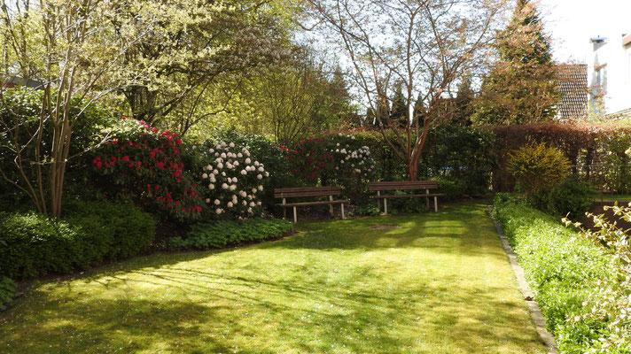 Blick auf unsere seniorengerechten Wohnungen - Gartenanschicht